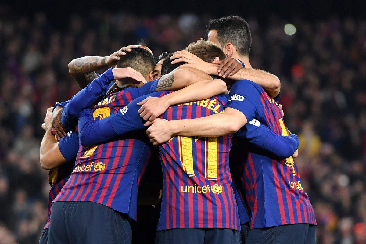barcelona vs celta vigo la liga final score 2 0 barça finish 2018