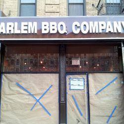 "Harlem BBQ Company in a former Sherman's space, via <a href=""http://harlembespoke.blogspot.com/2012/11/shop-harlem-bbq-co-replaces-shermans.html"">Harlem Bespoke</a>."