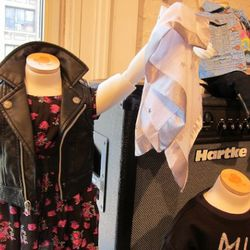 How adorable is this teeny tiny kids' leather motocross vest?