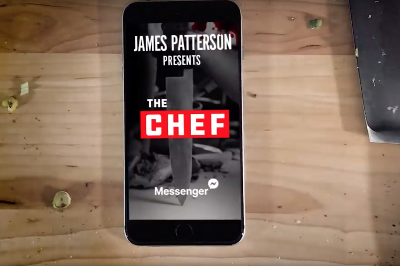 james patterson s next novel will be released on facebook messenger