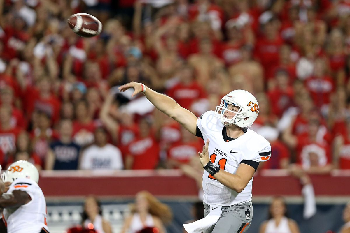 On a dare, Wes Lunt threw this football out of the stadium and over them there mountains.