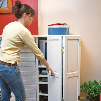 Shutter-Doored Cabinet