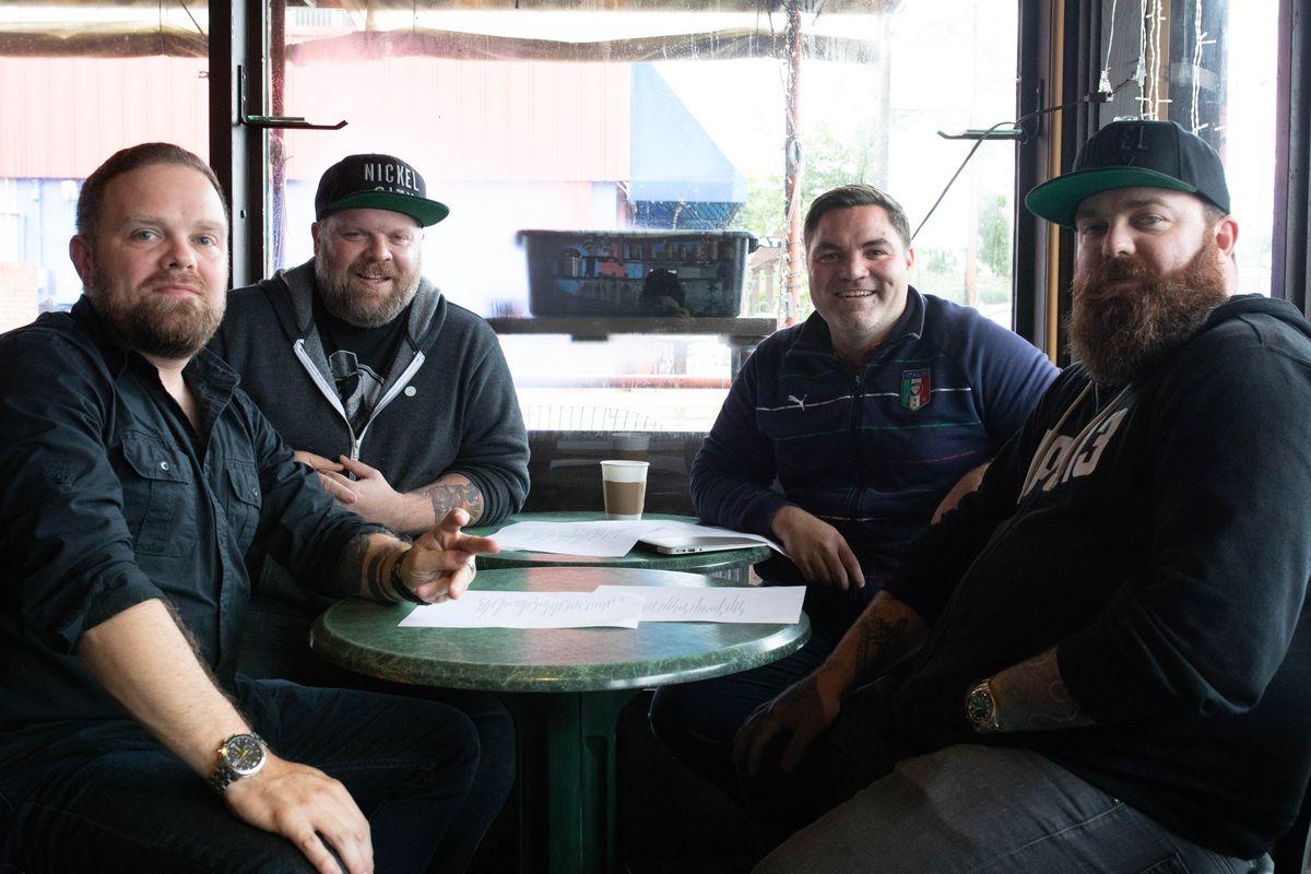 Zane Hunt, Travis Tober, Nicholas Yanes, and Brandon Hunt of Uncle Nicky's