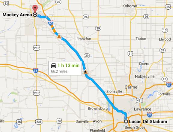 Purdue Final Four Map