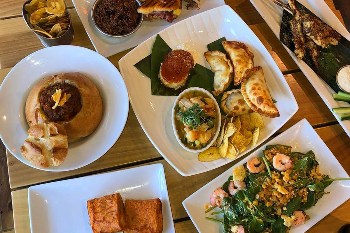A collection of Caribbean-inspired dishes on the menu at 100 Fires, coming soon to Spring Valley.