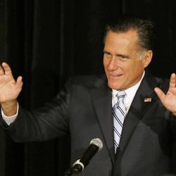 Republican presidential candidate and former Massachusetts Gov. Mitt Romney speaks at a campaign fundraising event in Sarasota, Fla.,  Thursday, Sept. 20, 2012.