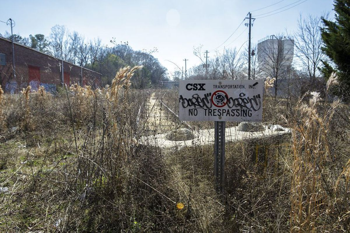 Where the Southside Trail will begin at Glenwood Avenue in Ormewood Park.