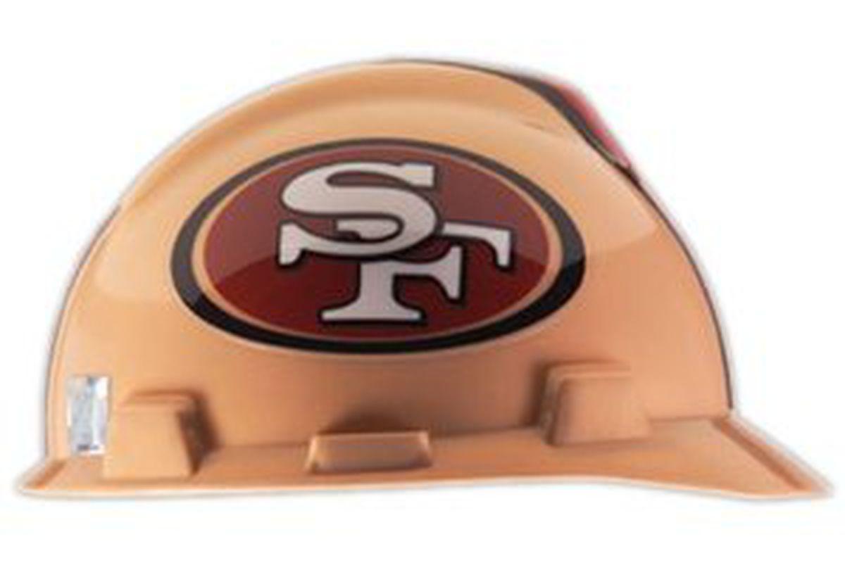49ers hard hat