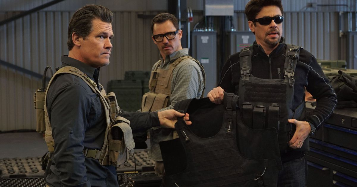 Josh Brolin, Jeffrey Donovan, and Benicio del Toro in Sicario: Day of the Soldado