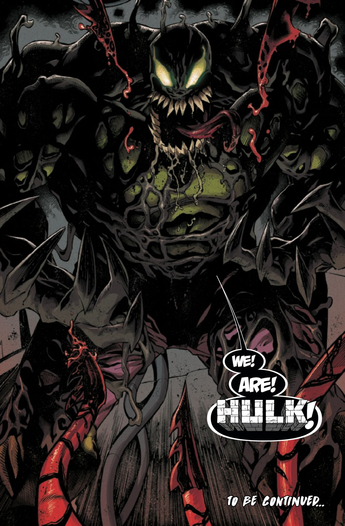 Bruce Banner/The Hulk, after merging with the Venom symbiote, in Absolute Carnage #3, Marvel Comics (2019).