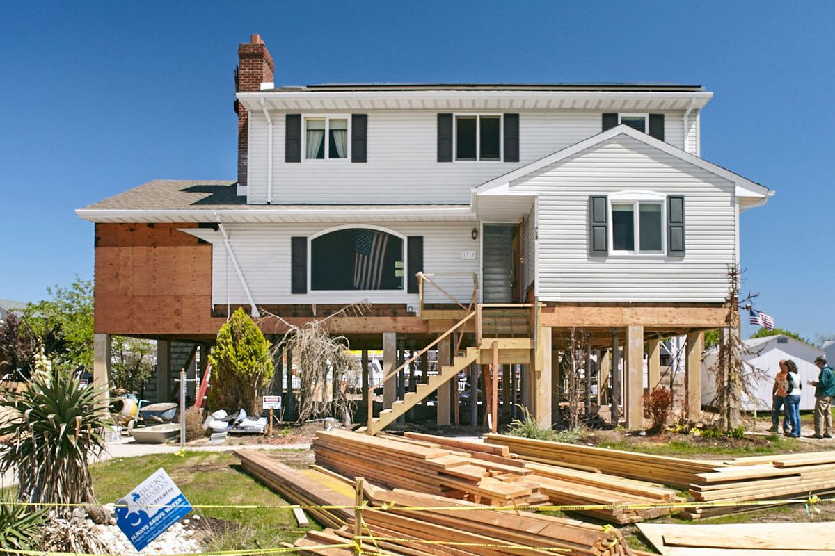 Jersey Shore project exterior under construction