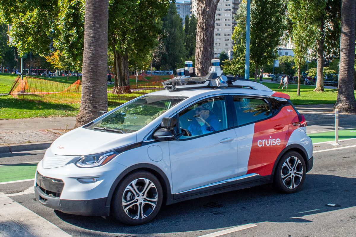 Prueba de conducción en coche robot