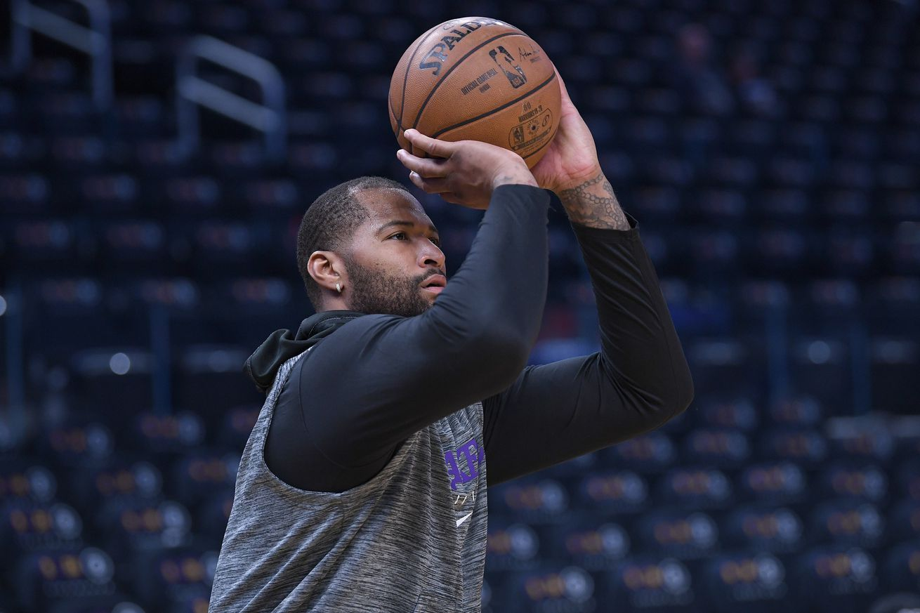 DeMarcus Cousins could be healthy for NBA Playoffs