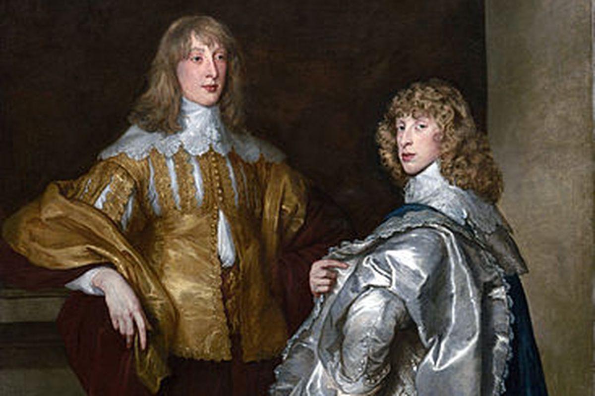 Portrait of Lord John Stuart and his brother Lord Bernard Stuart (later Earl of Lichfield) c. 1638