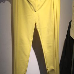 Yellow trousers, $60