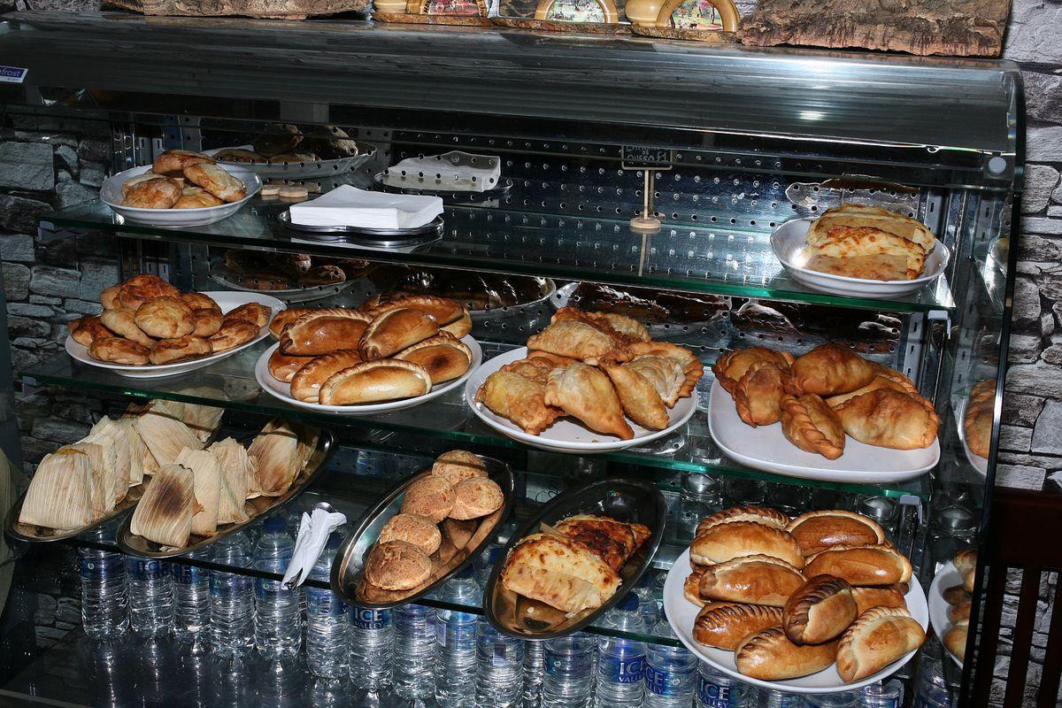 Salteñas and other snacks at Jenecheru, a Bolivian restaurant on Old Kent Road