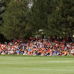Despite a wet, rainy morning, Broncos fans still came out in full force