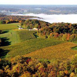 Aerial view of Missouri's St. Charles Wine Country. (source: showmewine.org)
