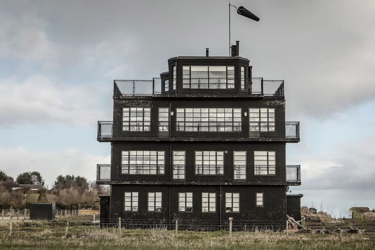 Black building with large windows
