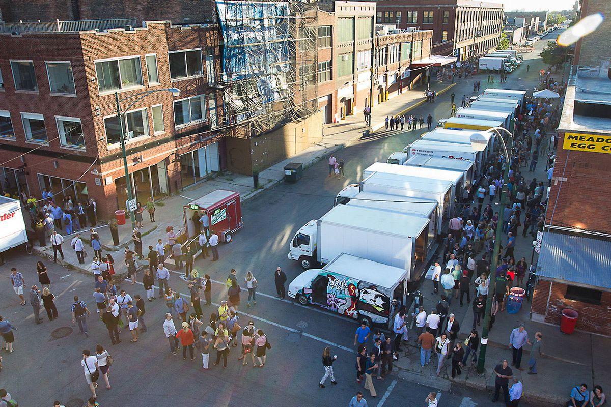 """Image of last year's Truck Show via <a href=""""http://www.theguerrillatruckshow.com/"""">The Guerrilla Truck Show</a>."""