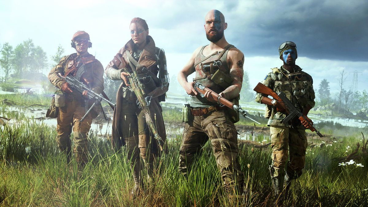 The classic support classes, represented by iconic new characters for Battlefield 5