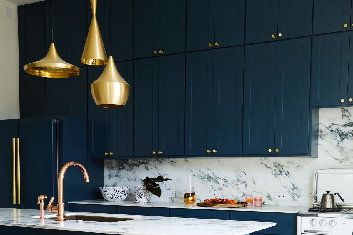Navy And Brass Is 2018 Interior Design Trend For Kitchens And Hotels Vox