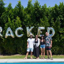 Pared Eyeweard's just-married founders Ed and Sam with Racked LA senior editor Natalie Alcala and her husband Vlad Galyuz.