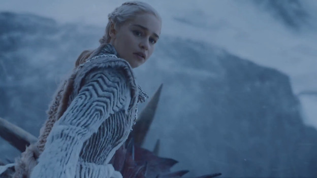 Daenerys in a winter outfit on 'Game of Thrones'