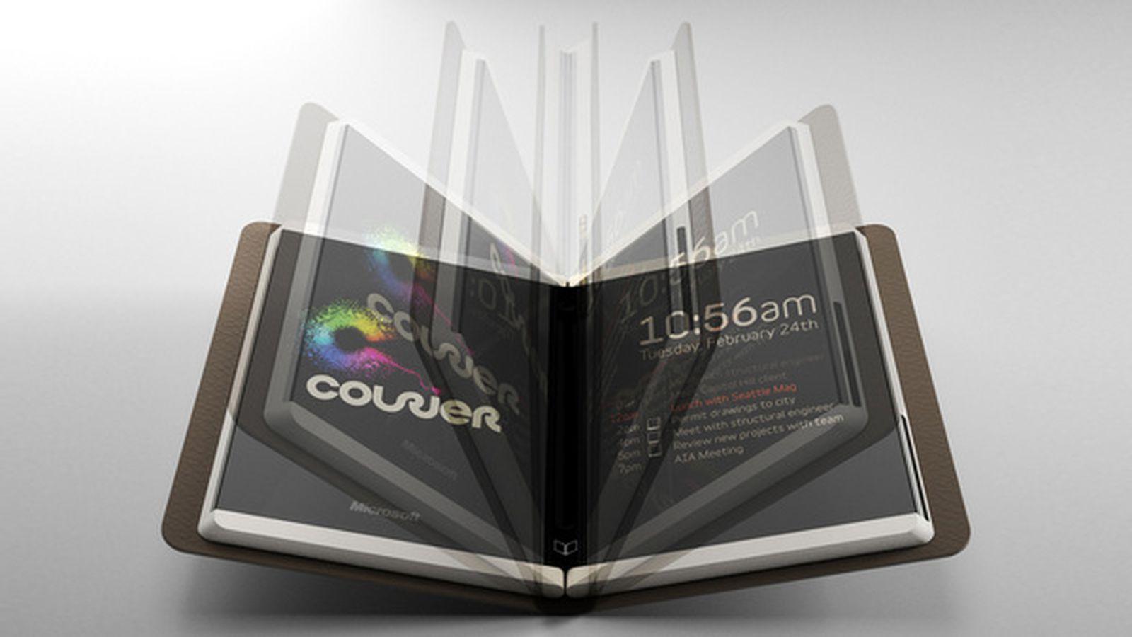 نتیجه تصویری برای microsoft courier tablet