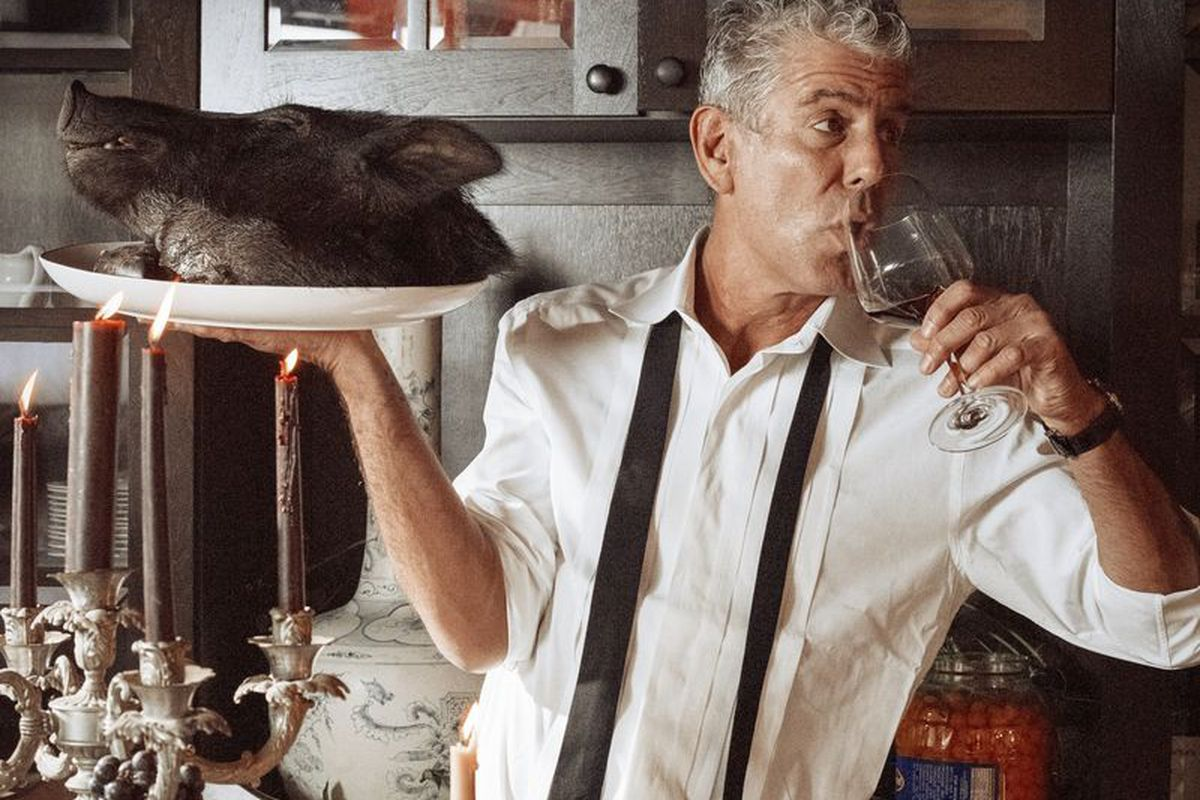 """The back cover of Bourdain's new book, """"Appetites: A Cookbook"""""""
