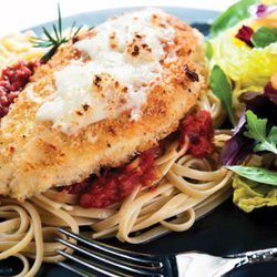 """Chicken Parmesan from """"Simplify Supper"""" by Krista Numbers."""