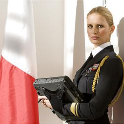 """This movie still released by Paramount Pictures shows Karolina Kurkova as """"Courtney 'Cover Girl' Kreiger,""""  a runway model turned spy and General  Hawk's assistant in """"G.I. JOE: The Rise of Cobra."""""""