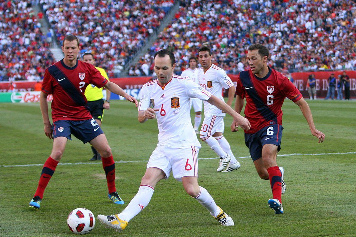 No Barça player scored against USA