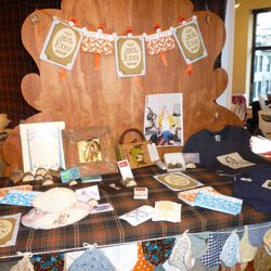 The Etsy designer display. It's like a hipster craft table.