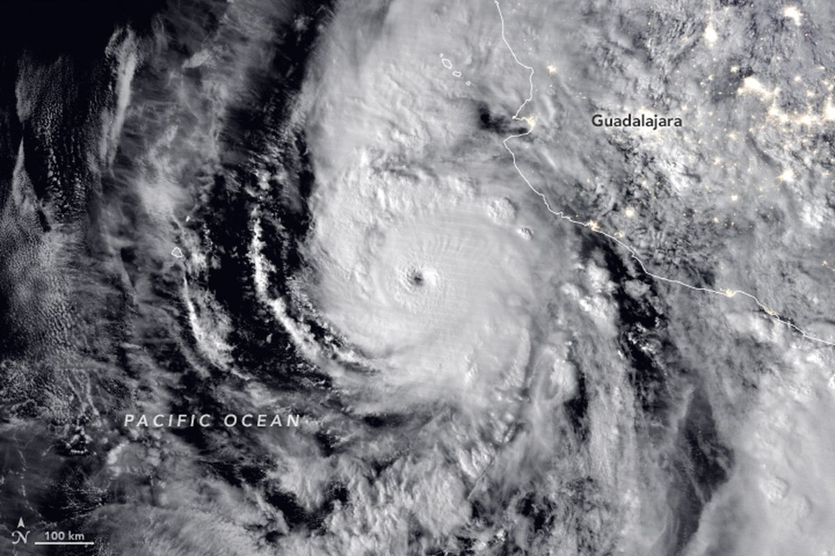 Hurricane Willa nears Mexico on October 22nd 2018