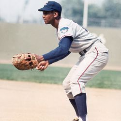 Ernie at first base during spring training 1968