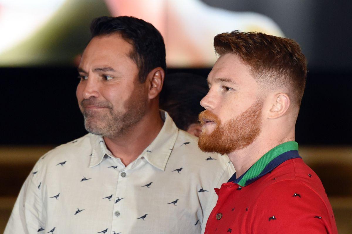 "Oscar De La Hoya ""loves"" idea of Canelo Alvarez vs Errol Spence Jr"