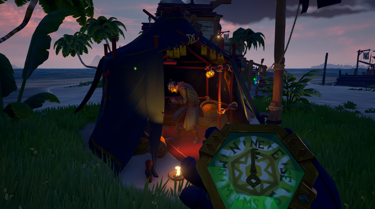 Sea of Thieves - a Gold Hoarder stands at his post