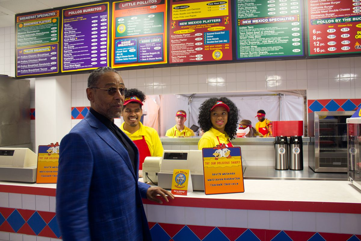 Giancarlo Esposito At The Los Pollos Hermanos Pop Up During Sxsw Nadia Chaudhury Eater Atx