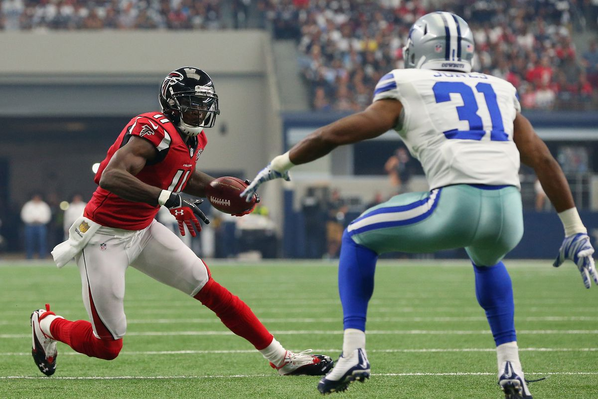 17b22e2ace1 Cowboys vs. Falcons  Keeping up with the Joneses - who wins between Julio  and Byron