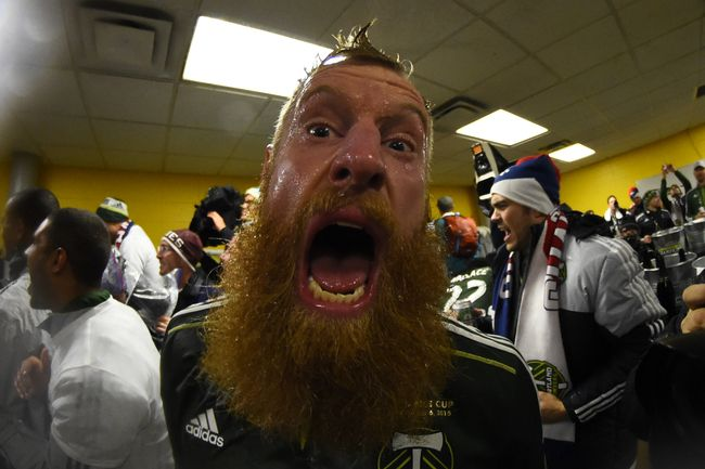The Leader of the Timber's hipster army Tormund Gians... I mean Nat Borchers.