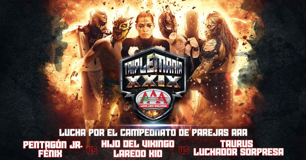 Fenix & Pentagon return to AAA to defend tag titles at Triplemania XXIX - Cageside Seats