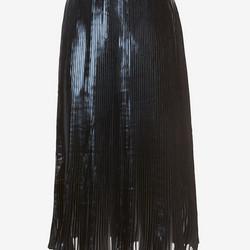 "Pleated foil below-the-knee skirt, $65  (was $460) via <a href=""http://www.intermixonline.com/product/ohne+titel+exclusive+pleated+foil+below+the+knee+skirt.do?sd=true&sref=https%3A%2F%2Fwww.google.com%2F"">Intermix</a>"
