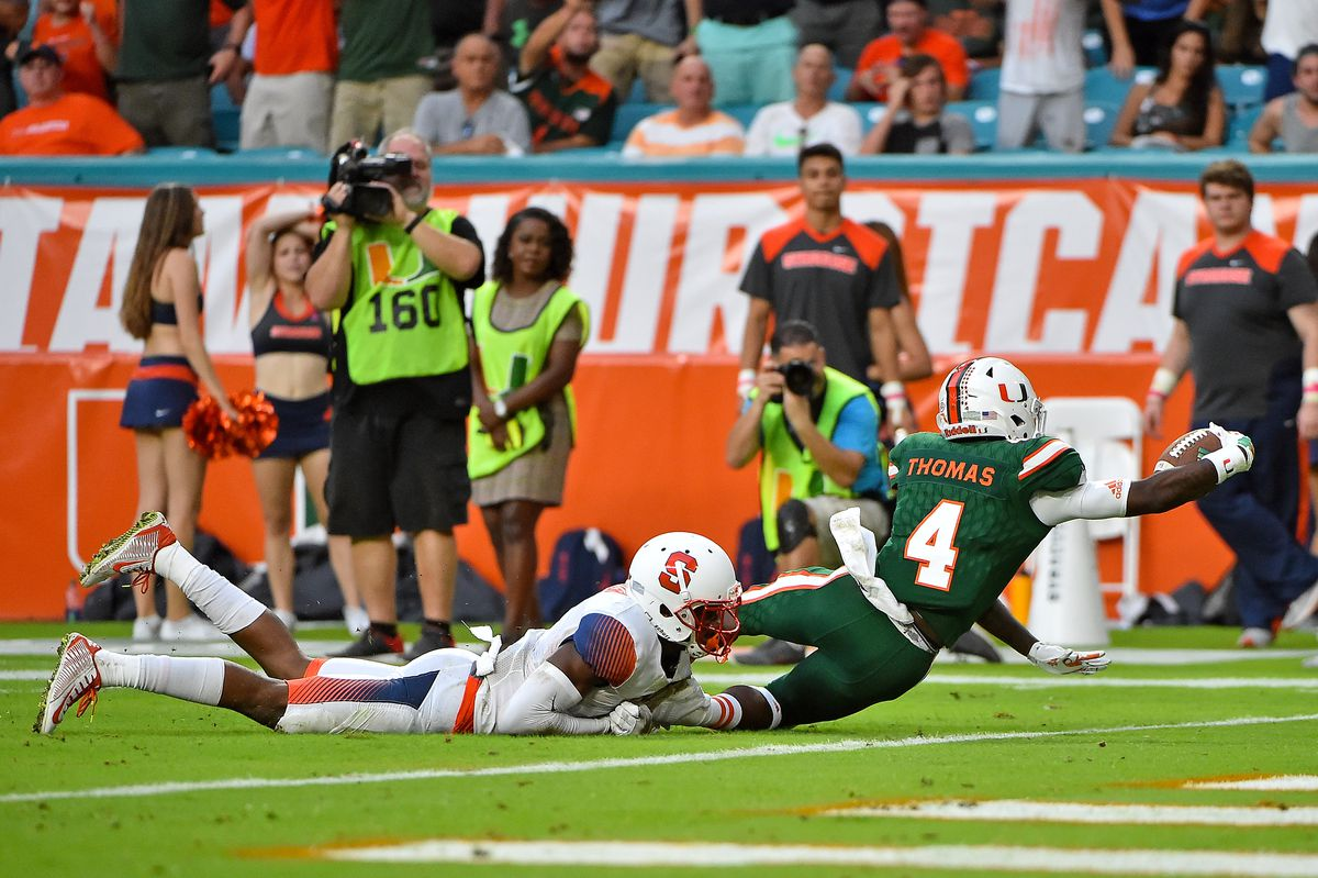 NCAA Football: Syracuse at Miami