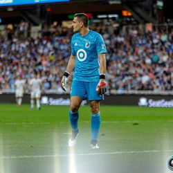 July 3, 2019 - Saint Paul, Minnesota, United States - Minnesota United goalkeeper Vito Mannone (1) follows the play of the ball during the match against San Jose Earthquakes at Allianz Field.