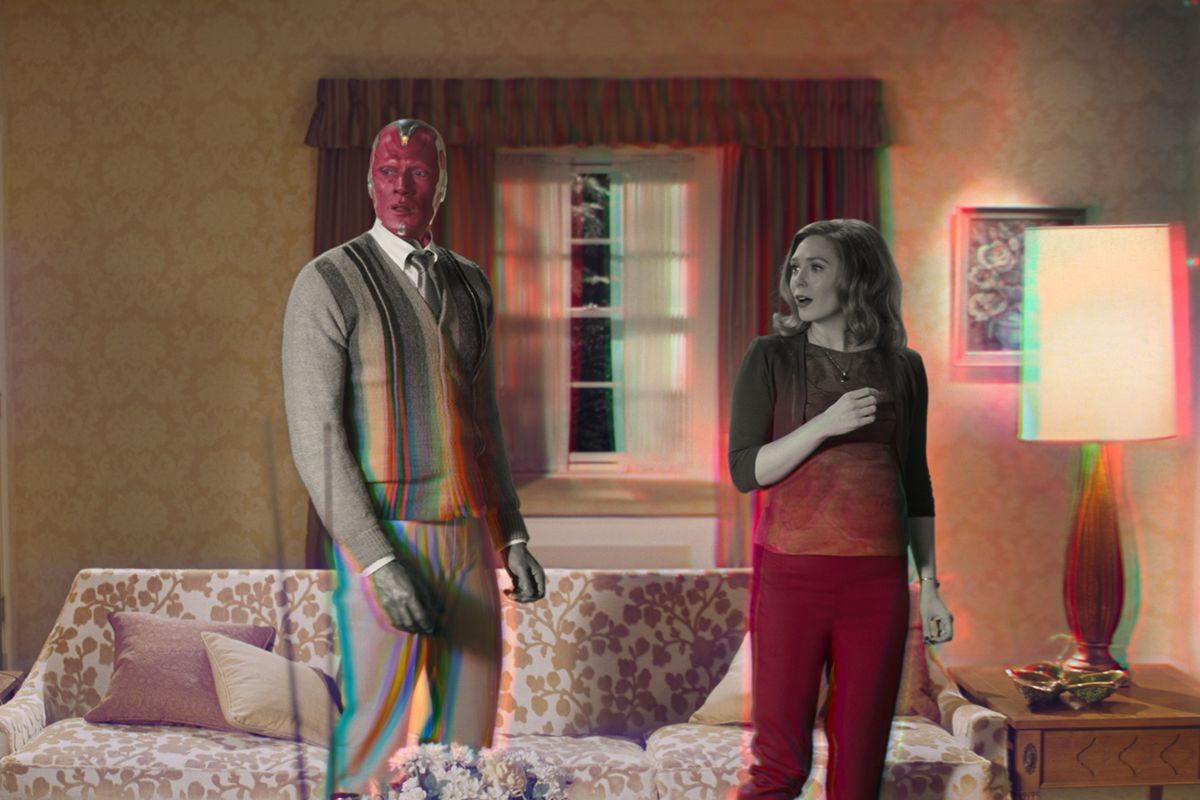 Wanda and Vision suddenly go from black and white to color in WandaVision