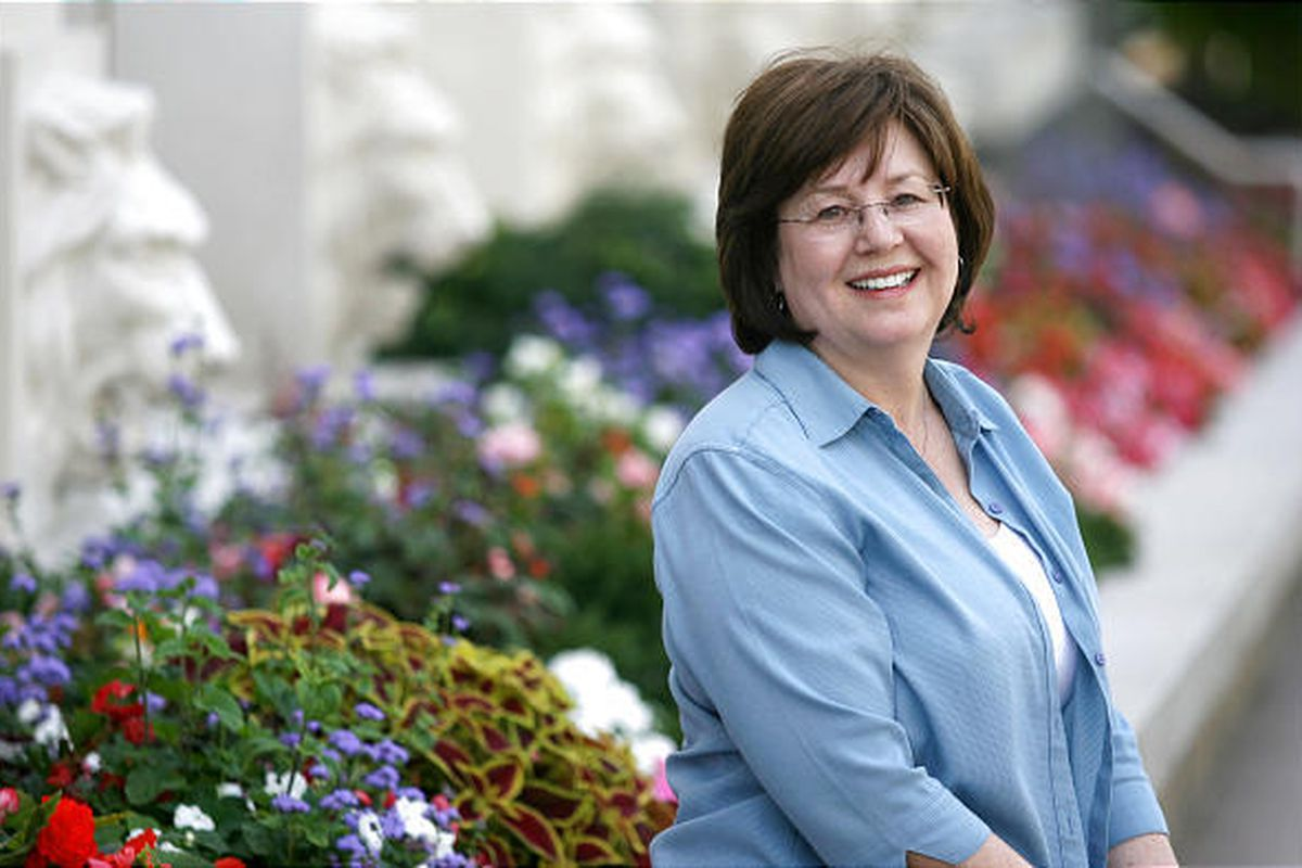 Juliann Reynolds, board member and one of the founders of FAIR, the Foundation for Apologetic Information and Research, at Temple Square.Juliann Reynolds, board member and one of the founders of FAIR, the Foundation for Apologetic Information and Research