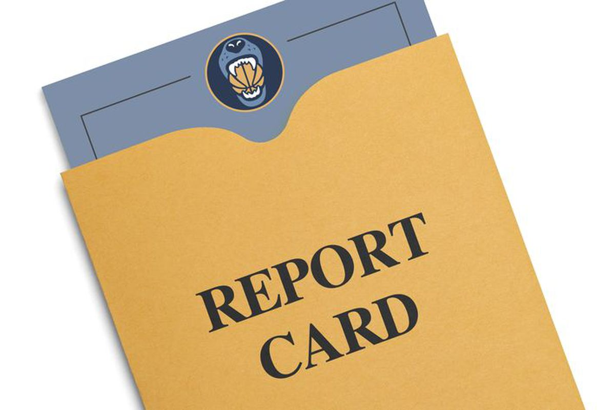 report card memphis grizzlies vs toronto raptors grizzly bear blues