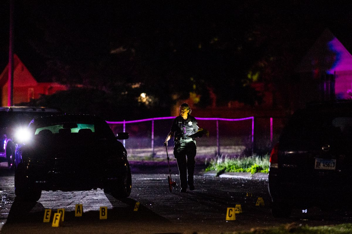 Robbins police investigate after five people were shot May 30 in the 14000 block of Grace Avenue.