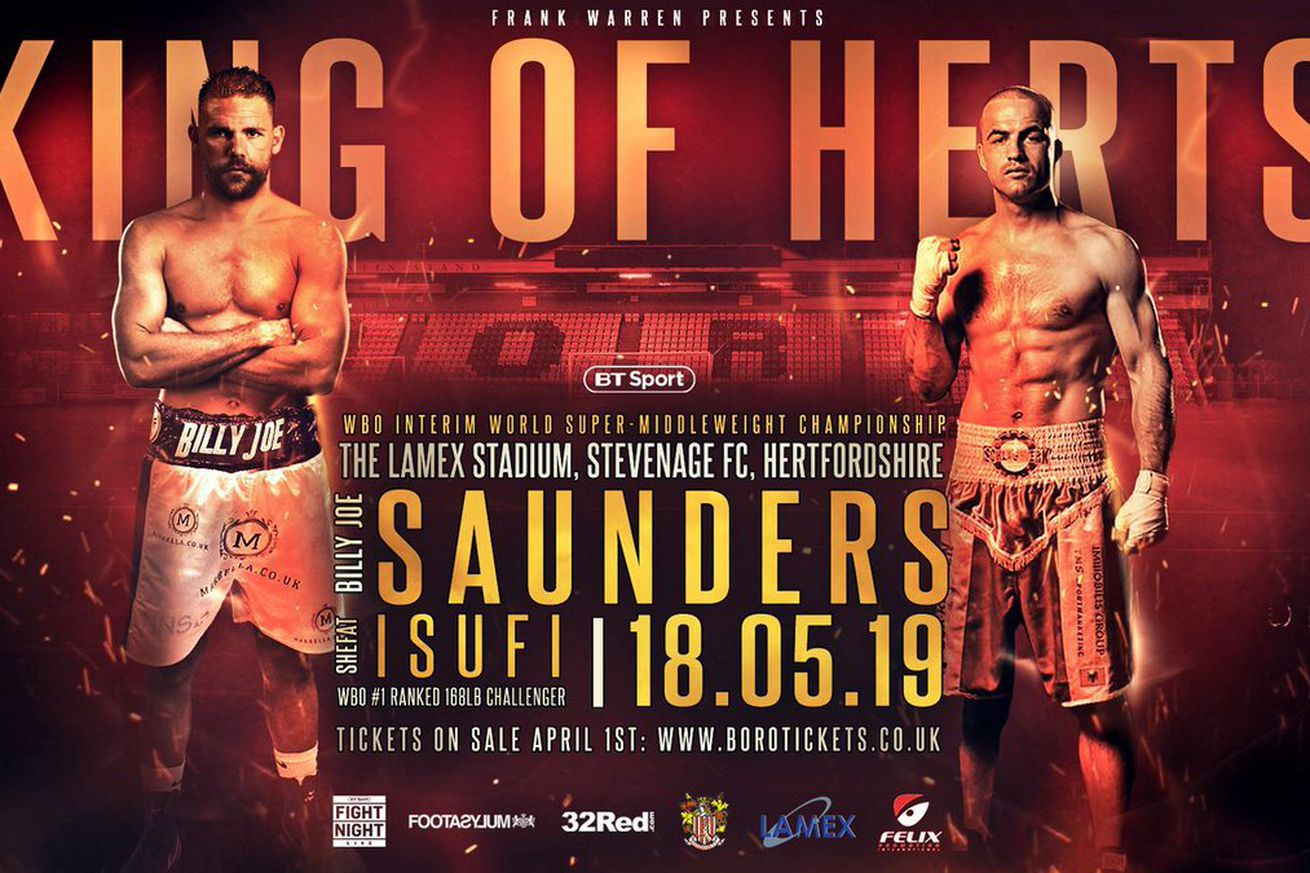 D2gIzgjX0AAjXqk.0 - Saunders-Isufi interim title fight official for May 18th